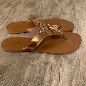 Apt 9 copper jeweled sandals